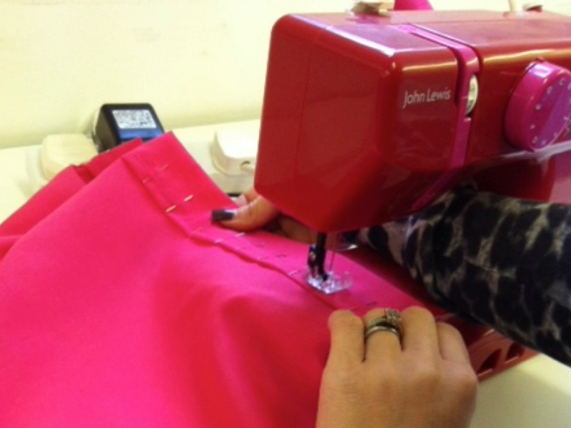 Sewing machine work