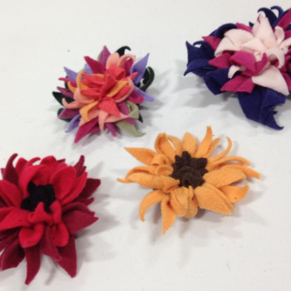 rag rug flowers