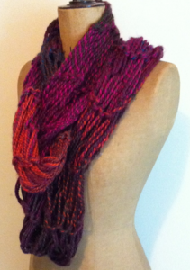 Arm knitted scarf - finished product