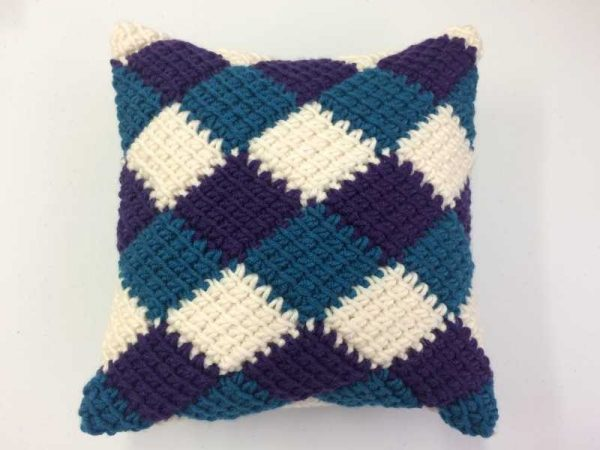 Beginner's Tunisian Crochet Cushion