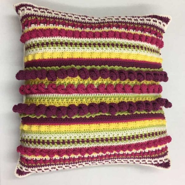 Completed Intermediate Crochet Cushion course