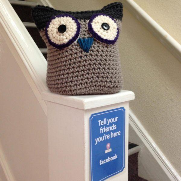 Crochet Owl Doorstop