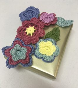 Crochet multi-layered flower