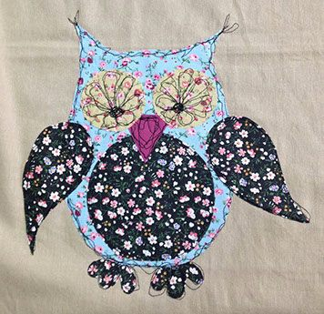 Free Machine Embroidery Owl