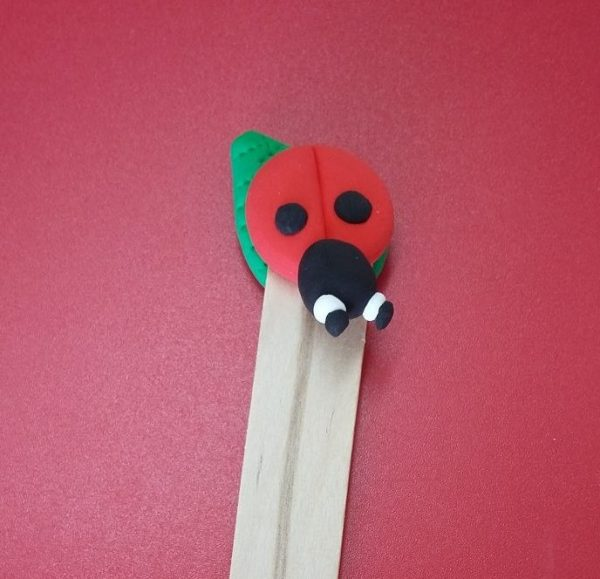 JumpinCLAY ladybird bookmark