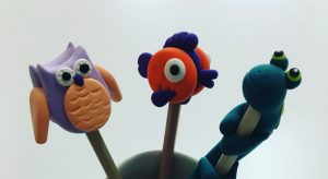 JumpingClay Pencil Toppers