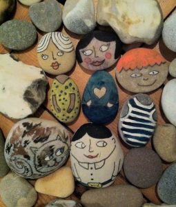 art-tastic sessions and some previously created pebble pals