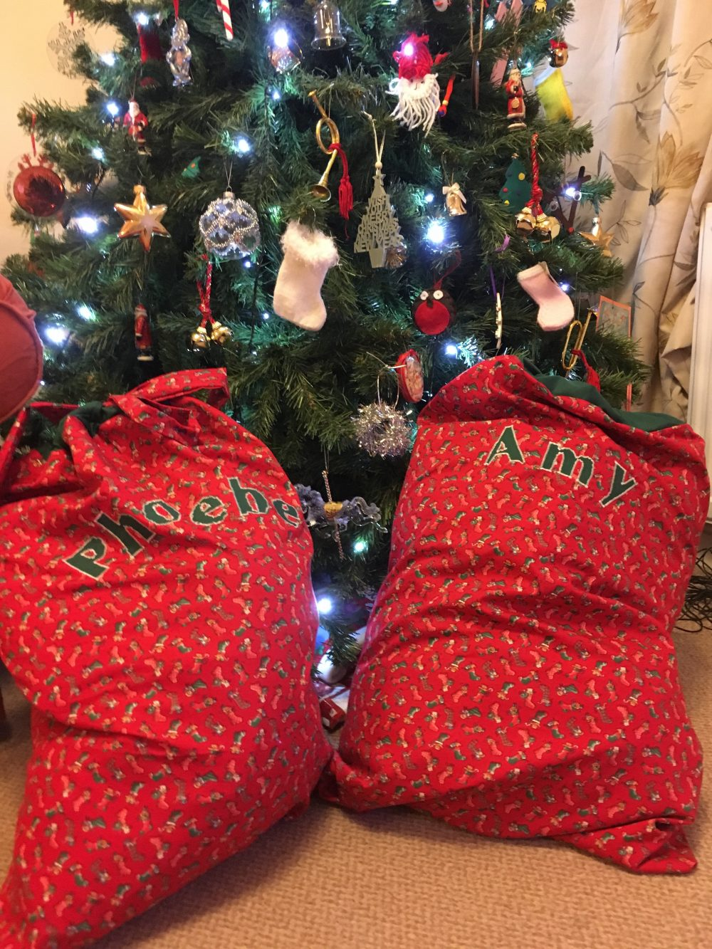 Personalised Santa Sack - Phoebe and Amy
