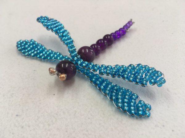 Purple Beaded Dragonfly