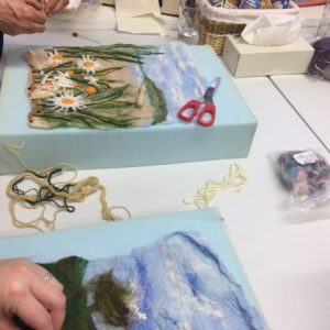 felted and embellished art
