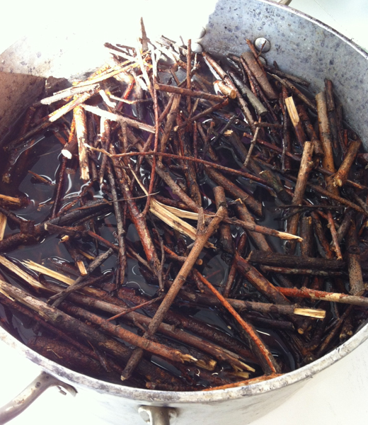 Willow dyeing