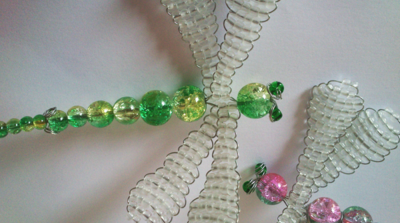 Beaded dragonfly examples