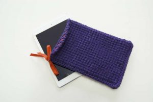iPad Case - beginners' Tunisian crochet