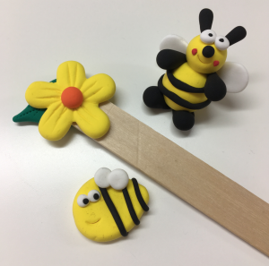 JumpingCLAY bees and flowers
