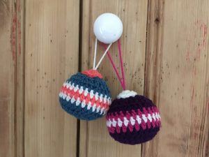 Christmas Bauble Crocheted Decorations