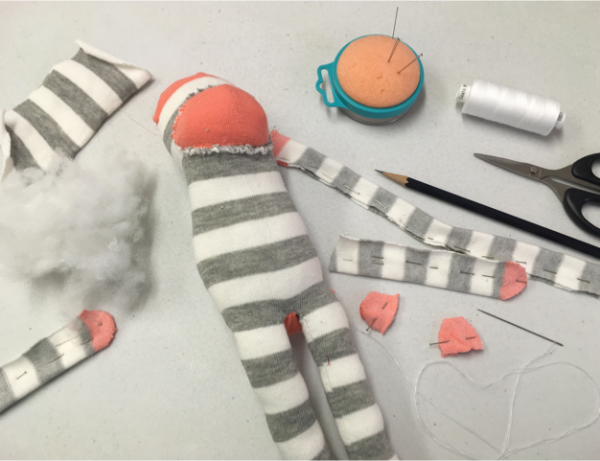 Sock Monkey in progress