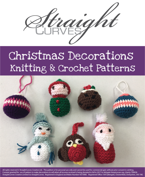Full Range of Christmas Decoration Patterns for Ashgate Hospicecare