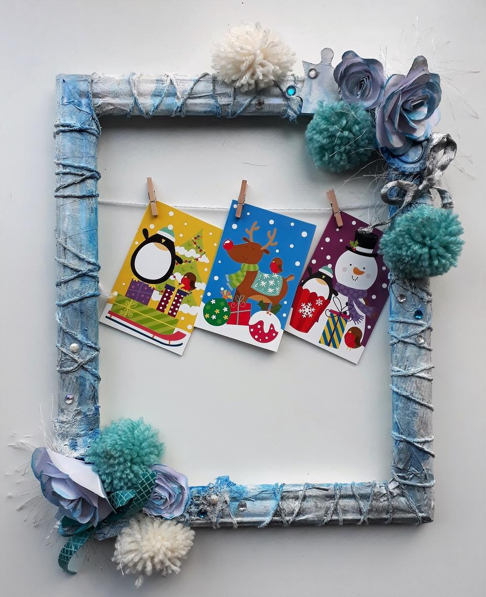 Mixed Media Christmas Frames   StraightCurves
