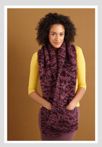 Love crafts knitted pocketed scarf