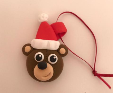santa ted jumpingclay decoration