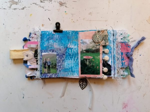 mini monthly journal open example